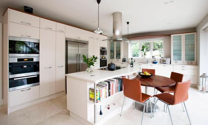 Скандинавский стиль спокойный, размеренный. Кухня в данном стиле стимулирует высокую продуктивность.
