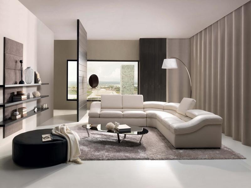 Мягкий, комфортный диван в стиле хай тек, как нельзя лучше вписывается в интерьер квартиры-студии.