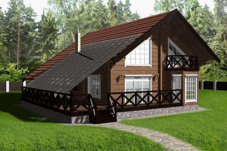Проект загородного дома в скандинавском стиле - дипломная работа выпускника дизайнерского отделения московского университета.