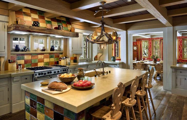 Цветная плитка для кухни