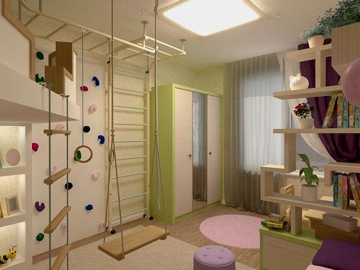 Комната для активных детей. Подвижные игры - залог быстрого физического и эмоционального развития.