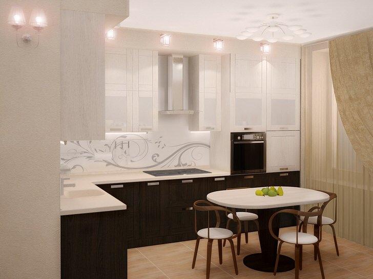 Классический дизайн кухни примечателен выгодным сочетанием белого цвета и венге. Приятное, притягательное оформление - мечта каждой хозяйки.