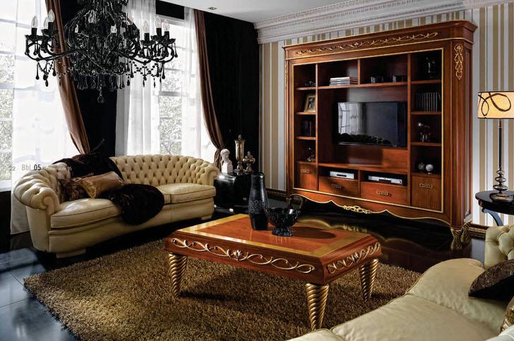 Дизайнерское оформление комнаты для гостей в стиле арт деко в киевской квартире.