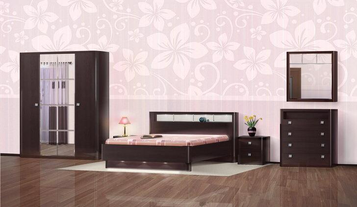 Мебель для спальни в стиле венге примечательна свое благородной простотой и сдержанным шиком.