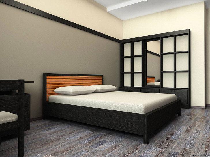 Мебель венге в спальне