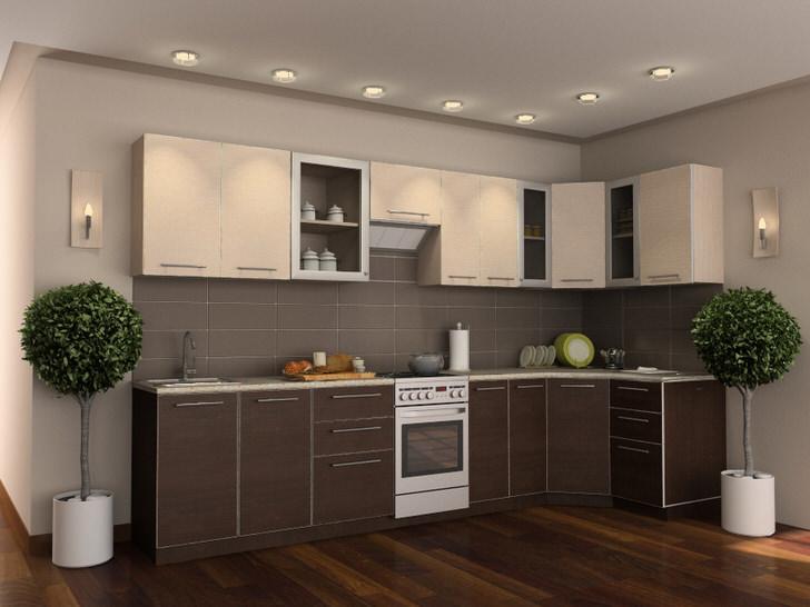 Кухонный гарнитур венге в сочетании с правильно подобранными декоративными элементами делает помещение элегантным и стильным.