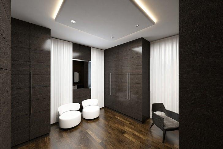 Сдержанный интерьер прихожей в стиле модерн выглядит эффектно и непринужденно.