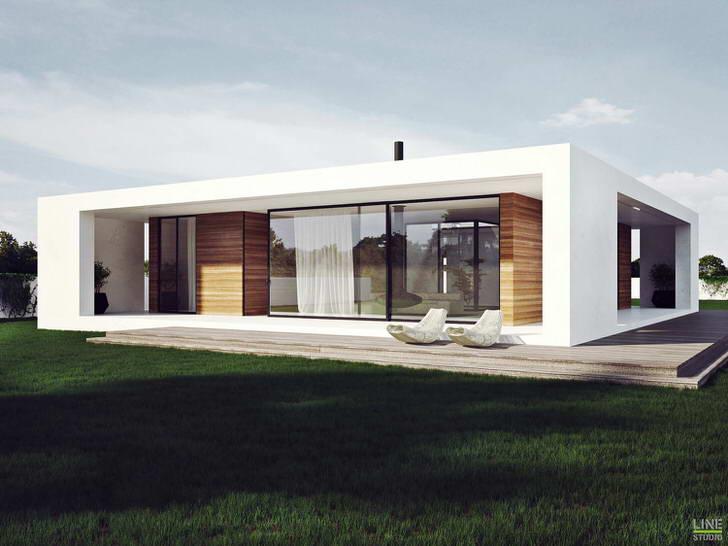 Стиль хай тек интересен использованием большого количества стекла для оформления фасадов здания.