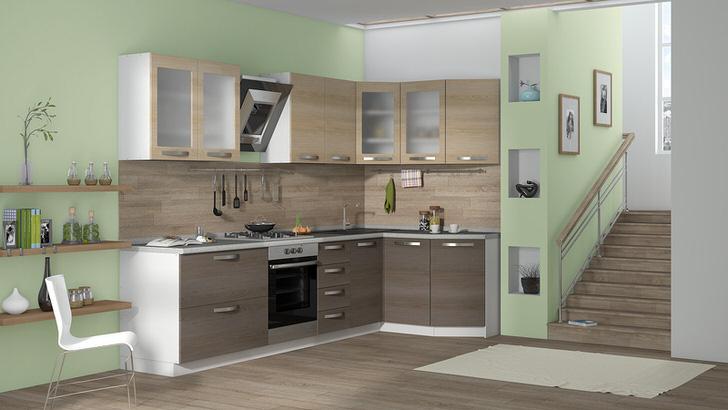 Компактный, но вместительный модульный гарнитур для кухни органично впишется в дизайн любого дома или квартиры.