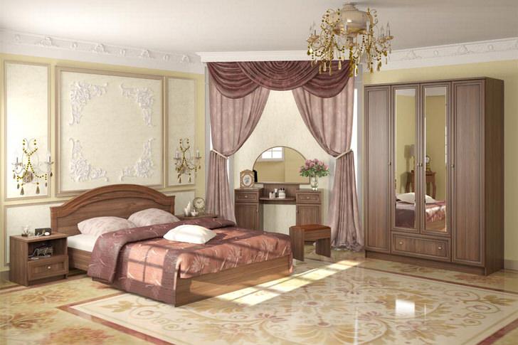Элегантная модульная мебель в классическом стиле для благородной, роскошной спальни.