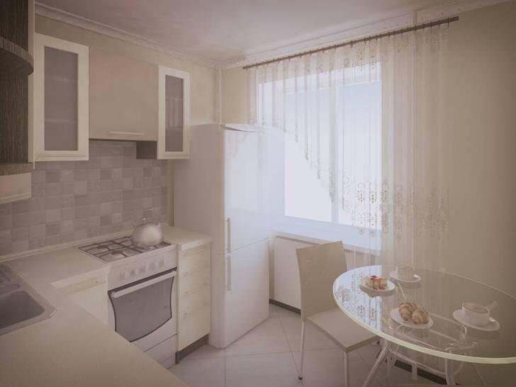 Небольшое кухонное пространство можно зрительно расширить, используя для оформления исключительно белый цвет.