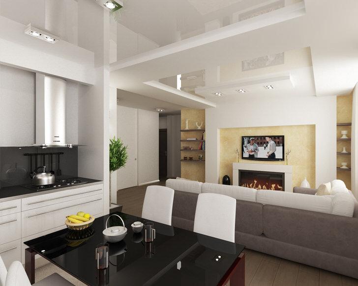 Современная квартира в одной из новостроек Подмосковья.