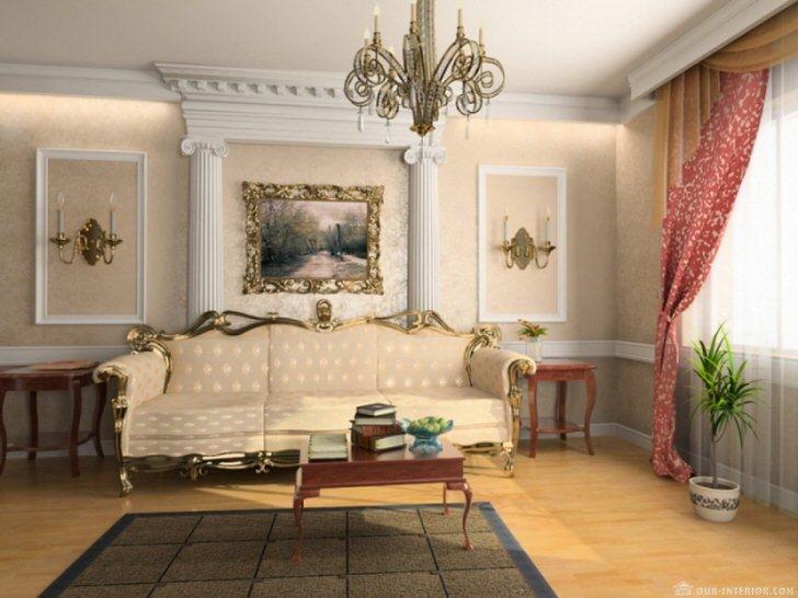В соответствии с требованиями французского стиля комната для гостей украшена лепниной из гипса.