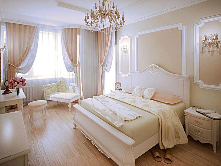 Спальня в модерн стиле в персиковых тонах - правильный выбор для семейного гнездышка.