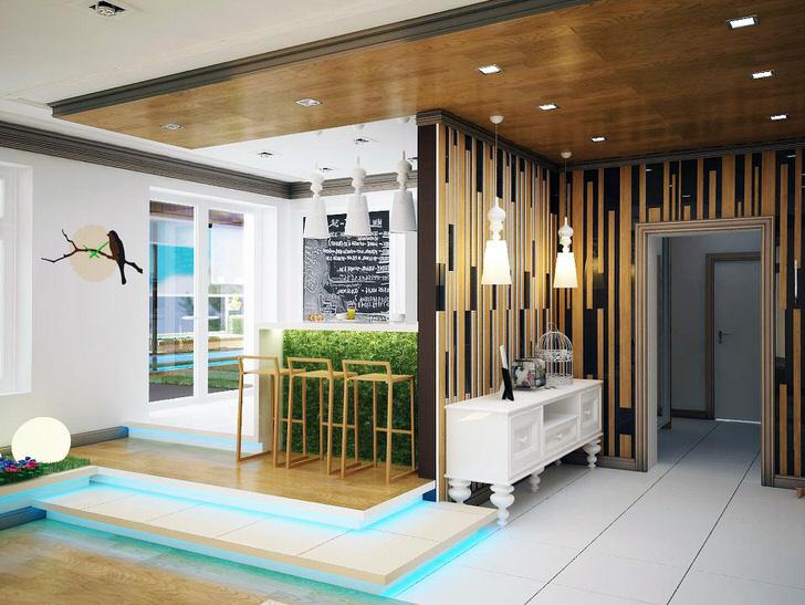 Эко дизайн - выгодный вариант для оформления квартиры-студии.