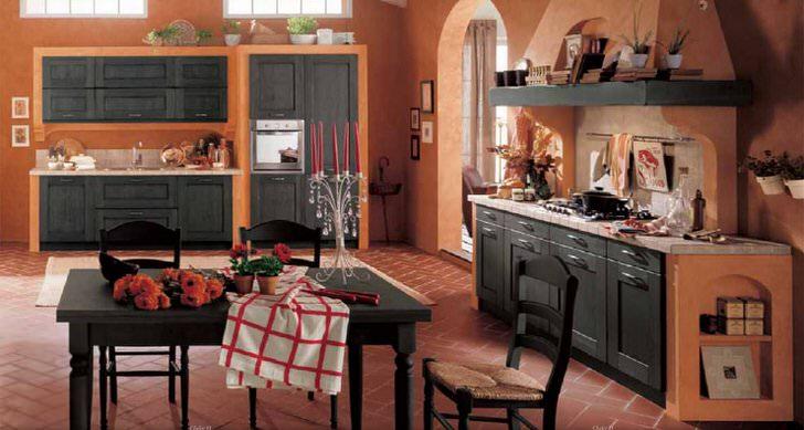 Основным требованием деревенского стиля является функциональность кухонного пространства.