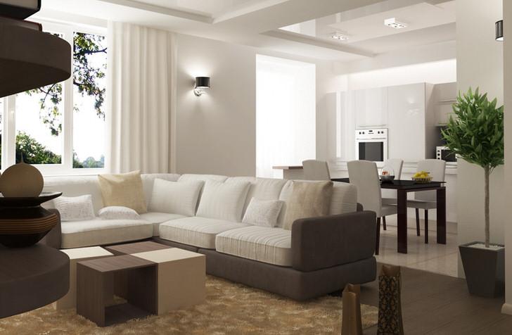 Лаконичный интерьер в стиле минимализм - правильный выбор для небольшой квартиры.