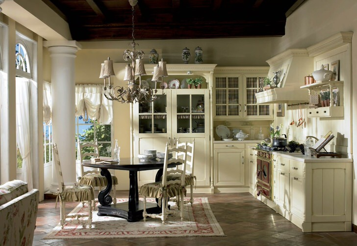 Уютная кухня столовая