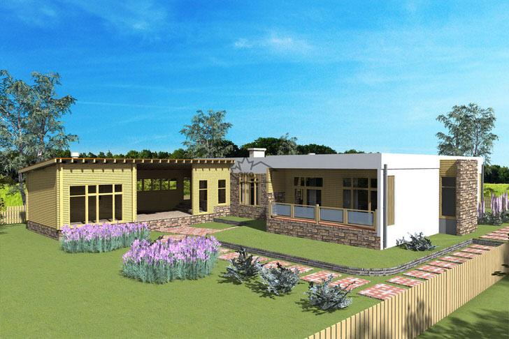 Проект дома в стиле хай тек разработан по заказу итальянского семьянина, который предпочитает отдыхать за городом.