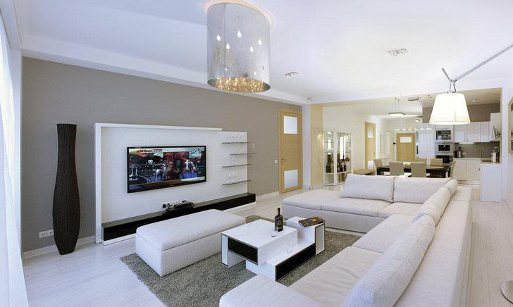 Стиль минимализм идеален для оформления небольших квартир.