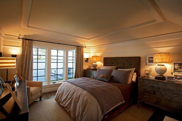Сдержанный дизайн спальни