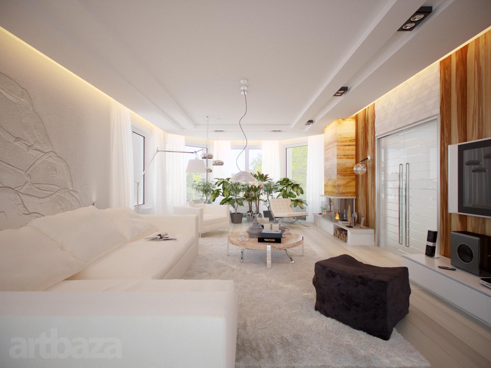 Просторная и светлая комната для гостей в стиле минимализм - отличный пример правильно подобранной меблировки.