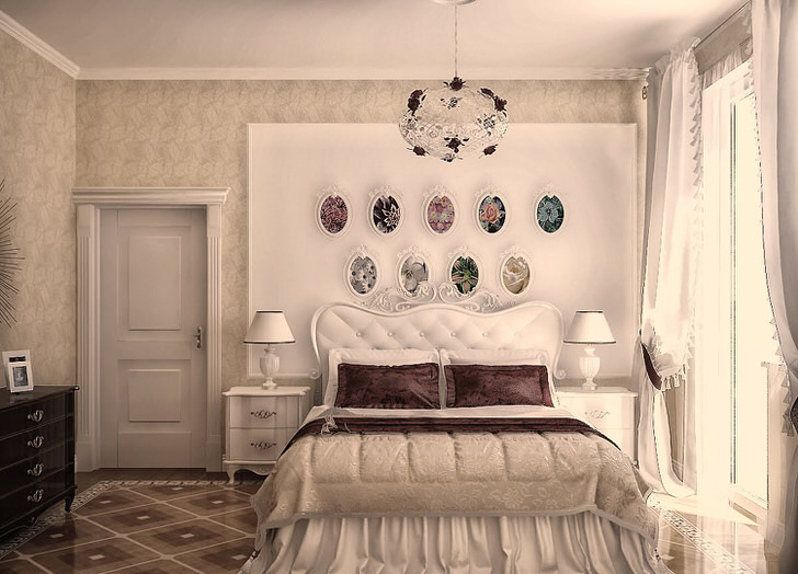 Креативное оформление спальни