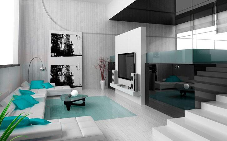 Комната для гостей в стиле хай-тек.