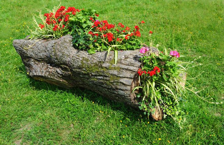 Грядки из камней для цветов