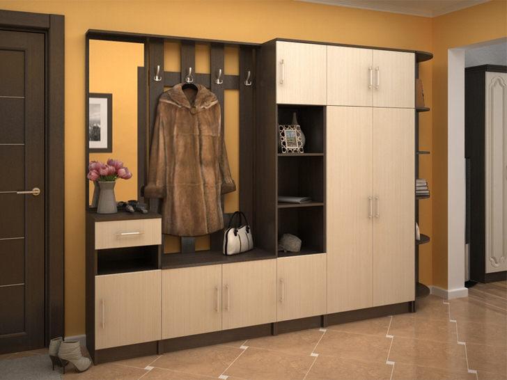 Вместительная модульная стенка для прихожей позволяет функционально организовать пространство. Привлекательный внешний вид мебели украсит интерьер в любом стиле.