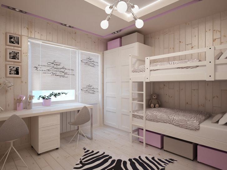 Стильная комната для двух сестер