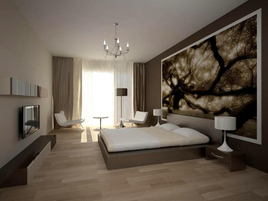Стиль минимализм идеален для организации интерьера небольших спальных комнат.
