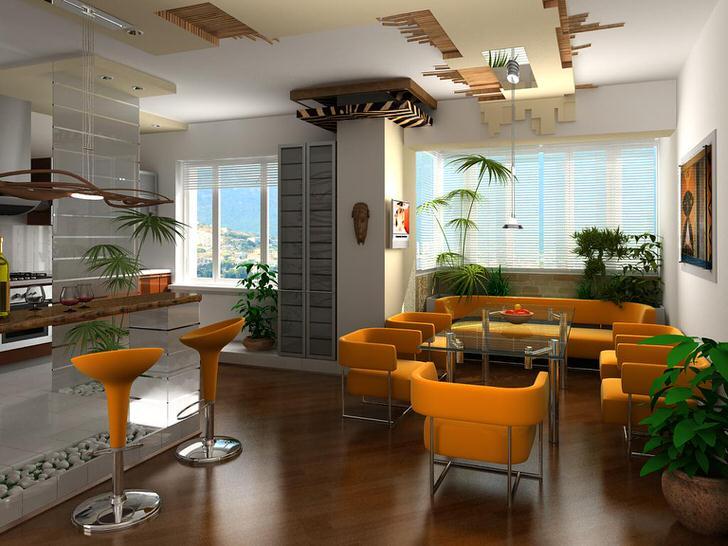 Дизайнерский проект для квартиры-студии в Нью-Йорке.