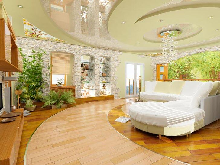 Живые цветы делают композицию дизайнерского проекта по-настоящему экологической и яркой. Эко дизайн любит белый цвет.
