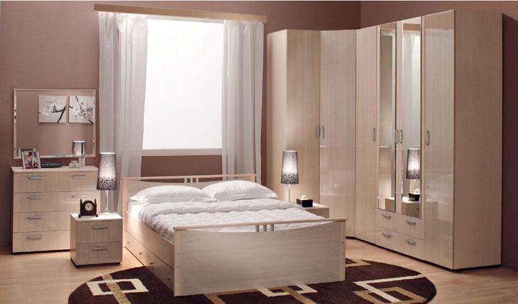 Модульная мебель для спальни - наиболее выигрышный вариант для небольших городских квартир.