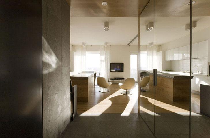 Квартира-студия в стиле хай тек на западе Германии.