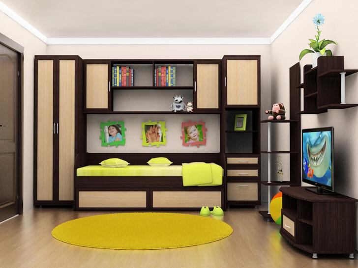 Цвет венге идеально подойдет для оформления детской комнаты и для мальчика, и для девочки.