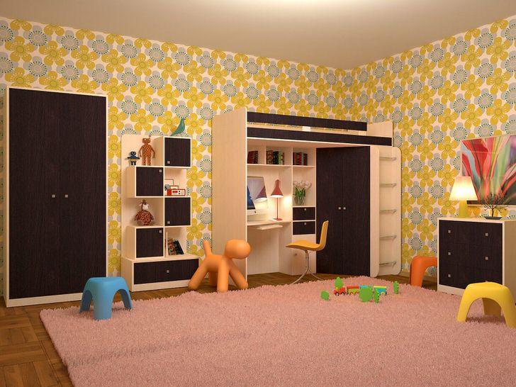 Насыщенный венге придется по вкусу любому юному эстету. Детская комната венге - функциональное и практичное решение.