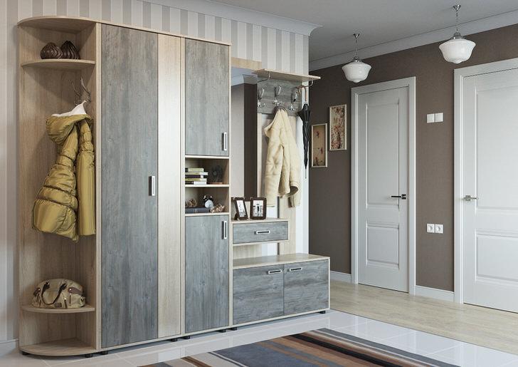 Сочетание светло-бежевого и серого цвета смотрится креативно и стильно.