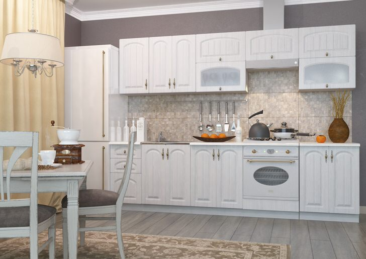 Модульный гарнитур для кухни площадью 8 квадратных метров. Основное требование к кухонной мебели - это повышенный уровень функциональности.