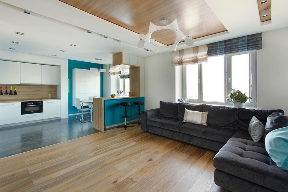 Стиль минимализм - удачный выбор для создания интерьера квартиры-студии.