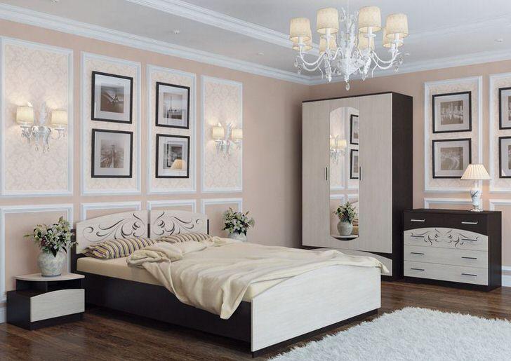 Модульная мебель украшена витиеватыми, изысканными узорами, которые делают гарнитур необычным и эксклюзивным.