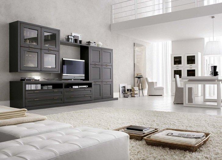 Пример сдержанного и лаконичного оформления интерьера в современном стиле.