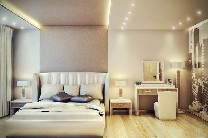 Роскошная спальня в современном стиле .