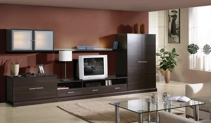 Мебель в цвете венге - идеальное решение для гостевой комнаты.