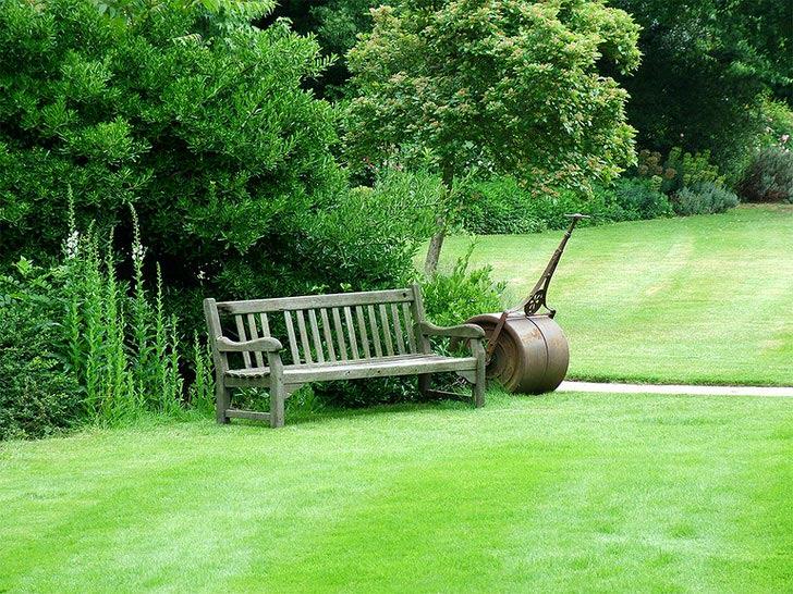 Английский газон не нуждается в дополнительном декоре и может выступать самостоятельной единице ландшафтного дизайна.