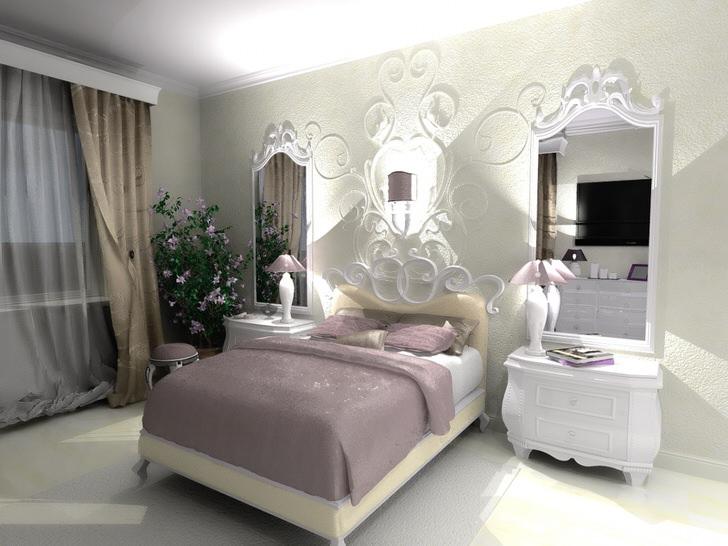 Спальни дизайн неоклассика