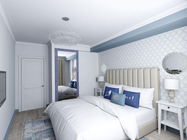 Оттенки синего цвета наиболее часто используются именно в оформлении интерьеров в средиземноморском стиле.