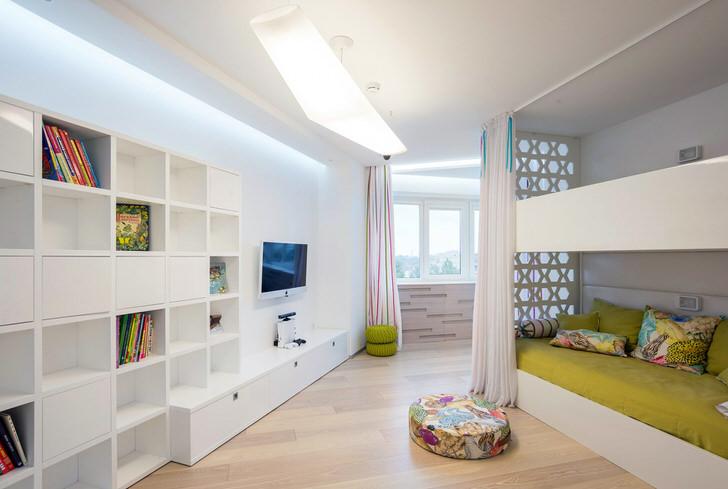 Интерьер детской комнаты, как пример правильно подобранной мебели для стиля минимализм.