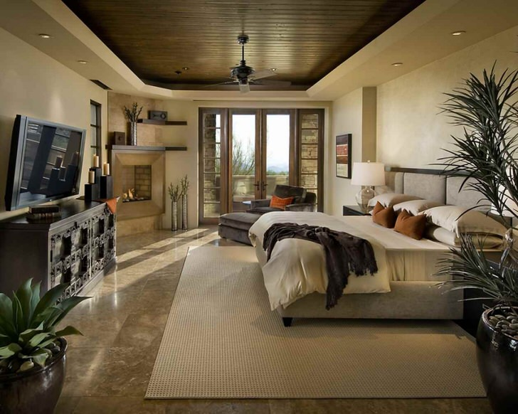 Стиль шале всегда уютен. Идеальное решение для оформления спальни.